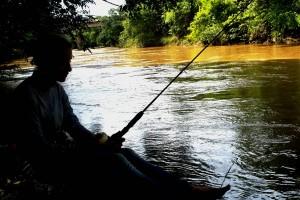 Rio dos Bois Povoado de Gercinápolis Varjão Goiás. Lugar calmo e seguro, só faltou o peixe! 10 Foto João Faria 25 02 2017